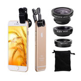 Bakeey Universal Clip Camera Lens 0.67 Wide Angel + 180 stopni Fish Eye + Macro For Mobile Phone Tablet