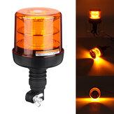 Süper Parlak 40LED Amber Uyarı Strobe Işık Kurtarma Araba Yanıp Sönen Beacon Işık