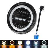 Projecteur de voiture de moto de 7 pouces LED phare Halo DRL Hi-Lo faisceau lampe ronde scellée