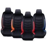 Tampa da esteira do assento dianteiro do carro Almofada de almofada de couro respirável PU Encosto universal