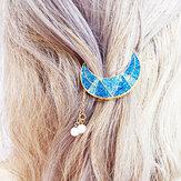 Sweet Shiny Moon Beads Tassels Волосы Клип Волосы Аксессуары