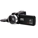 KOMERY 48MP 4K HD Videocámara digital WiFi Pantalla táctil de 3,0 pulgadas para Youtube Tiktok Vlogging Grabación de vídeo Cámara