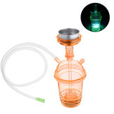 Outdoor Portable Colorful Hookah Shisha LED Light Base Glass Water Pipe Bottle Camping Travel