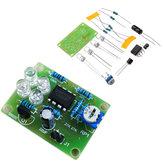 10 pcs LM358 luz de respiração peças eletrônico diy azul LED Flash lâmpada kit de produção eletrônica