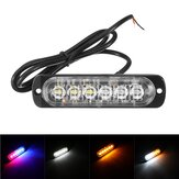 12V-24V 6LED Super jasny Strobe Emergency Lights ostrzegawcze Police Flashing Light Bar