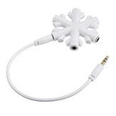 От 1 до 5 Снежинка аудио адаптер для наушников аудио разветвитель музыки поделиться аудио разветвитель 5 штекер 3,5 мм разветвитель для наушн