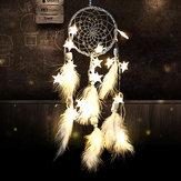 اليدويةحلمالماسكصافيمعالريش الخرز الجدار شنقا الديكور نجوم سلسلة أضواء حلم الماسك ديي الحلي الهدايا المبتكرة الرياح الدق