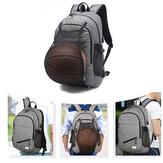 Waterdichte Canvas Laptop Rugzak School Bag Met USB Laadhaven / Basketbal Net