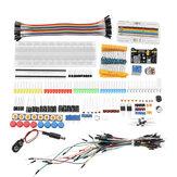 Junior Kit componenti elettronici con resistenza Breadboard Modulo di alimentazione per Con confezione in plastica Scatola