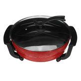 220V 1300W 6L Multifunctional Electric Hot Pot Mandarin Duck Pot Electric Yuanyang Pot Cooker