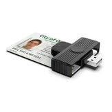 Αναγνώστης κάρτας αναγνώρισης καρτών Rocketek USB Smart Card αναγνώστης CAC για κάρτες AKO OWA DKO JKO DCO