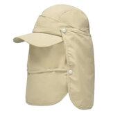 屋外の漁師の帽子取り外し可能な耳の首のカバー防風サンシェードキャップ釣りフラップキャップ