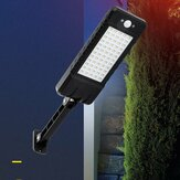 24W 60LED Solar Dimming Wall Street Light Waterproof PIR Motion Sensor Outdoor Garden Yard Lamp