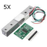5Pcs 5KG petite cellule de charge de pesage pesant capteur de pression avec A / D HX711AD adaptateur
