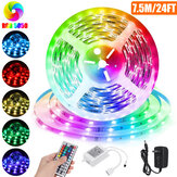 RGB LED Light Strip com 24 / 44Key remoto Controller 5050 SMD Cuttable Linkable Christmas Decorations Clearance Christmas Lights