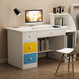 Computer Laptop Desk Writing Study Table Bookshelf Desktop Workstation Computer Case Storage Rack with Drawers Home Office Furniture