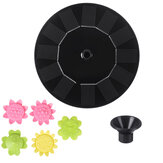 6V 1W Solar Powered Water Fountain Pumps Floating Fountains Home Pond Garden Decor