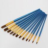 12 adet boyama fırçası inci mavi çizim fırçası suluboya akrilik fırça seti profesyonel yağlıboya araçları sanat malzemeleri