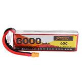 ZOP Power 7.4V 6000mAh 65C 2S Lipo Bateria XT60 Plug para Quadricóptero RC