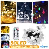 في الهواء الطلق 9.5 متر 50 المصابيح سلسلة الكرة ضوء التحكم عن بعد مراقبة 8 طرق ضد للماء حديقة حفلات الزفاف عيد الميلاد ديكور