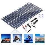 100W 18V Monocrystalline Solar Panel Dual USB Portable Battery Charger Car RV Boat Portable Charger Outdoor Camping Travel