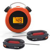 KC-502 Smart bluetooth Digital Display BBQ Grill Food Thermometer with Stainless Dual Probes