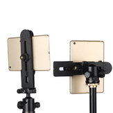 Ulanzi Adjustable Clamp for Cell Phone Tablet for iPad Air Pro Mini 3-14 inch Tablet Phone Tripod Clip