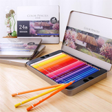 Deli 72 kleuren Oily Color Pencil Set Soft Core Crayons Painting Drawing Sketching Pencils Painting Supplies voor kleurpotloden