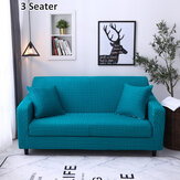 1/2/3 Seaters Sofa Cover Pillow Covers Elastic Chair Seat Protector Stretch Slipcover Home Office Furniture Accessories Decorations Green Grid