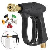 Coche Moto Bicicletas Pistola para lavadora de alta presión 200BAR / 3000PSI con 5 boquillas
