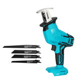 18V Cordless Handheld Electric Reciprocating Saw 0-3000rpm/min Electric Saber Saw With 4 Pcs Saw Blades Adapted To Makita Battery