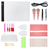90Pcs LED Light Pad Board Stand Holder DIY Diamond Embroidery Painting Tools Kit