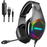 ERXUNG J20 Gaming Headset 50mm Driver Unit 3D Stereo Sound RGB Light Noise Reduction Mic 3.5mm USB Port for PS4 PC Xbox One Switch Smartphone