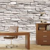 45cmx10m 3D Stone Brick Wallpaper PVC Wall Sticker Home Decor Art Wall Paper for Bedroom Living Room Background Decal