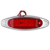 24V LED Luz de Marcação Lateral Flash Lâmpada de Aviso de Emergência Estroboscópica Para Barco Car Truck Trailer