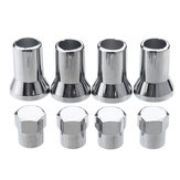 4Pcs TR413 Chrome Car Truck Tire Wheel Tyre Valve Stem Hex Caps W / Sleeve Covers