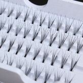 8/10 / 12mm Cluster Individual Falso Cílios Flare Black Fake Lash Knot 56 Stands Lashes Extension