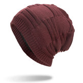 Vinter Plus Velvet Thicken Hedging Cap Stickad Mössa