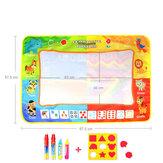 88 * 58cm Giocattoli educativi di illuminazione per bambini di grandi dimensioni con disegno a graffiti su tela di acqua a quattro colori per bambini