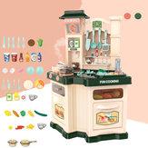 Plastikowe zabawki kuchenne Kuchnia Duża kuchnia Symulacja gotowania Zagraj w zabawki edukacyjne dla dziewczynki Zabawka prezent