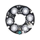 5 Stück IR LED Infrarot-Lichtplatine für CCTV-Kamera Nachtsicht 30-40M 6 * Array LED Weiß 2,5 W DC12V