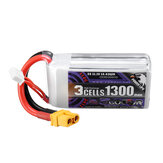 CODDAR 11.1V 1300mAh 110C 3S High Discharge Lipo Battery XT60 Plug for HobbyZone Super Cub S RC Plane Eachine Novice 3 FPV Racing Drone