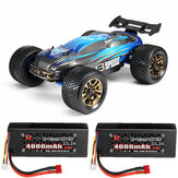 JLB Racing J3 Speed w / 2 Batterie 120A Upgraded 1/10 2.4G 4WD Truggy RC Car Truck Vehicles RTR Model