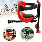 Front Mount Child Bike Seat Safety Stable Bicycle Seat with Handrail Kids Saddle Cushion
