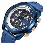 BAGARI1802CasualStyleFakeThree Dials Reloj de cuarzo