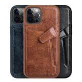 Nillkin para iPhone 12 Pro/12 Caso Negócios com suporte para cartão de couro à prova de choque Protetivo Caso