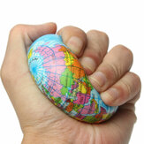 Aarde Globe Planet World Map Schuim Stress Relief Bouncy Press Ball Geography Toy