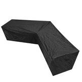 Housse de canapé pour meubles imperméable en forme de `` V '' protecteur de chaise de jardin extérieur
