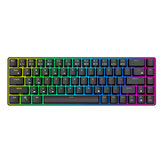 Royal Kludge RK855 68 Tasten Mechanische Spieletastatur Dual Mode Wireless Bluetooth 5.1 Type-C RGB-Tastatur mit RGB-Hintergrundbeleuchtung