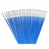 32 Pcs/set Nylon Hair Paint Brush Set Acrylic Oil Watercolor Painting Craft Art Kit Students Oil Painting Pens Wooden Pole Brushes School Art Supplies Stationery